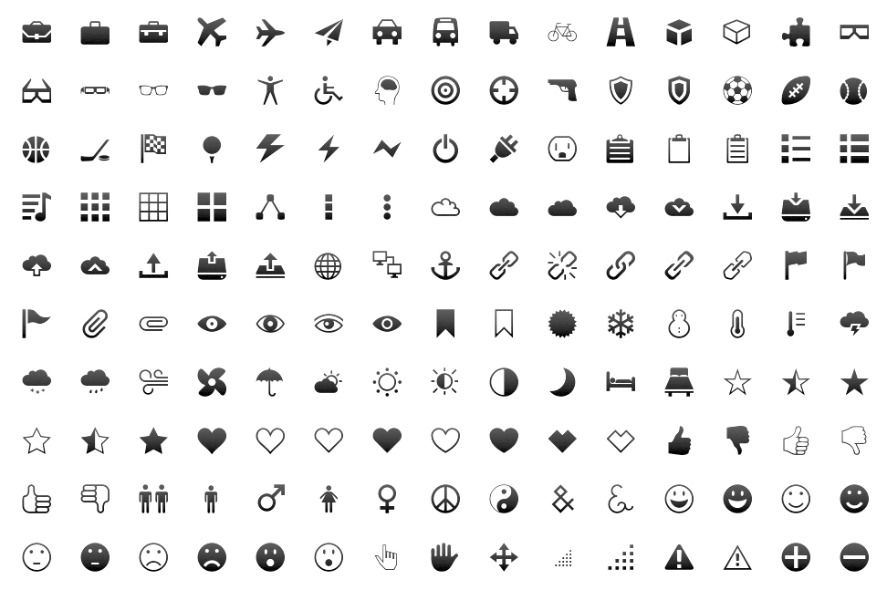 icomoon - what are the best icon web fonts