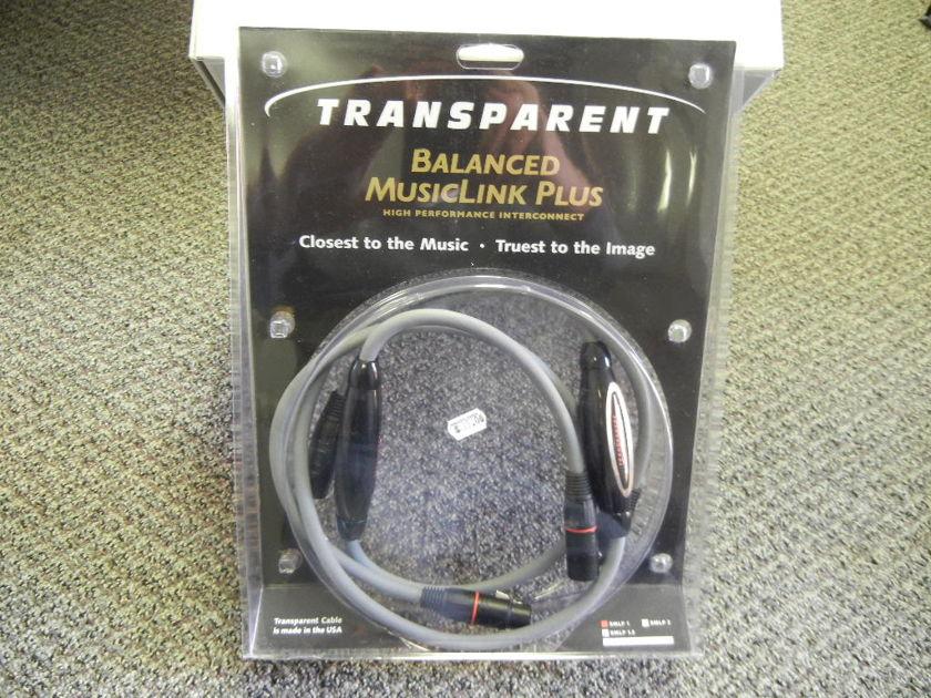 Transparent Audio Musiclink Plus  1m XLR (see pics)