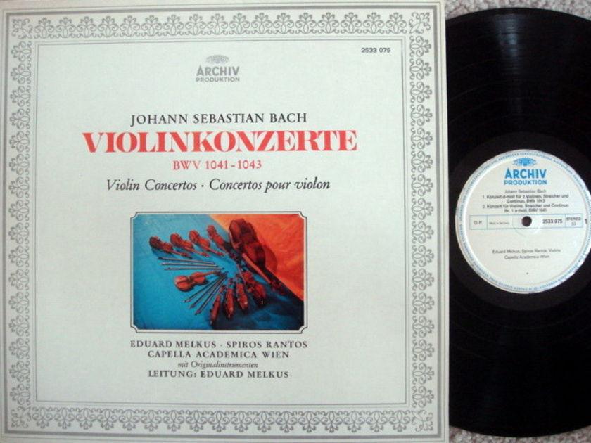 Archiv / MELKUS, - Bach Violin Concertos, MINT!