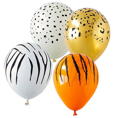 Hello Party Patterned Printed Biodegradable Latex Balloons