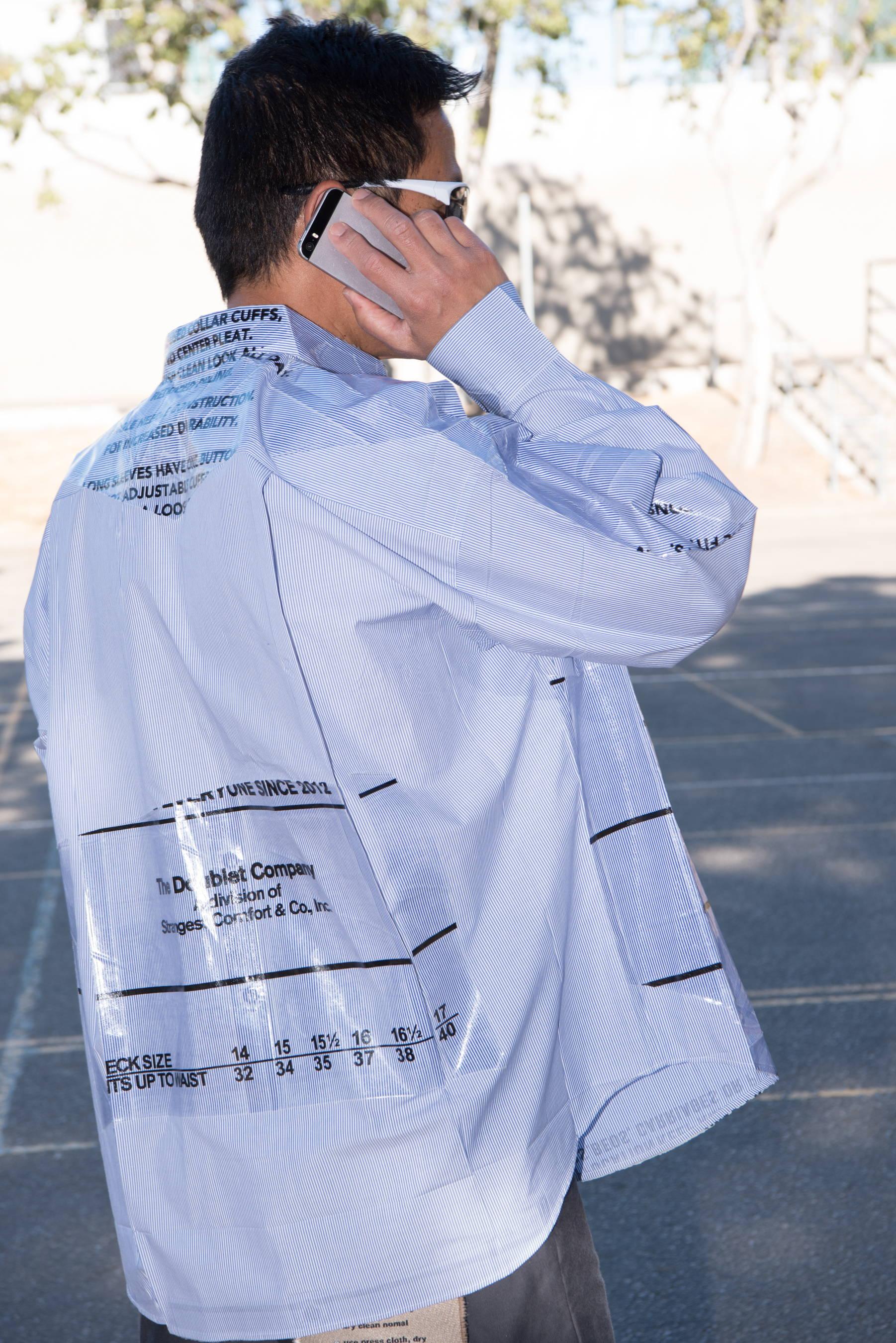 plastic covered shirt masayuki ino doublet