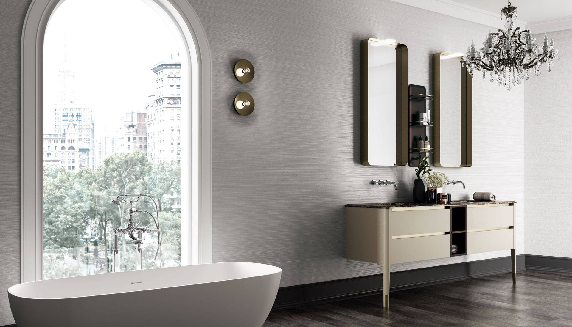 Bathroom reed interiors for Corradini arredo bagno