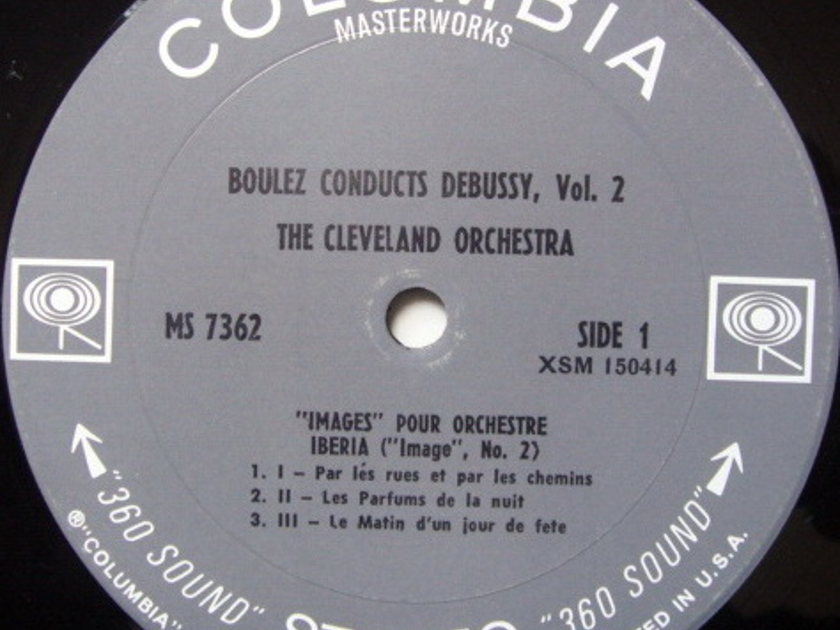 Columbia 2-EYE / BOULEZ,  - Debussy Images for Orchestra, NM!