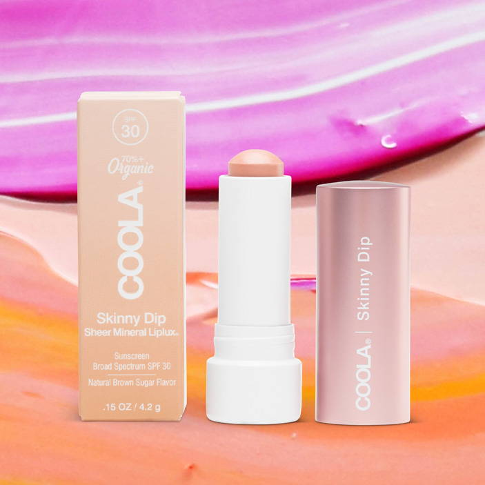 COOLA Mineral Liplux Organic Tinted Lip Balm Sunscreen SPF 30 in Skinny Dip