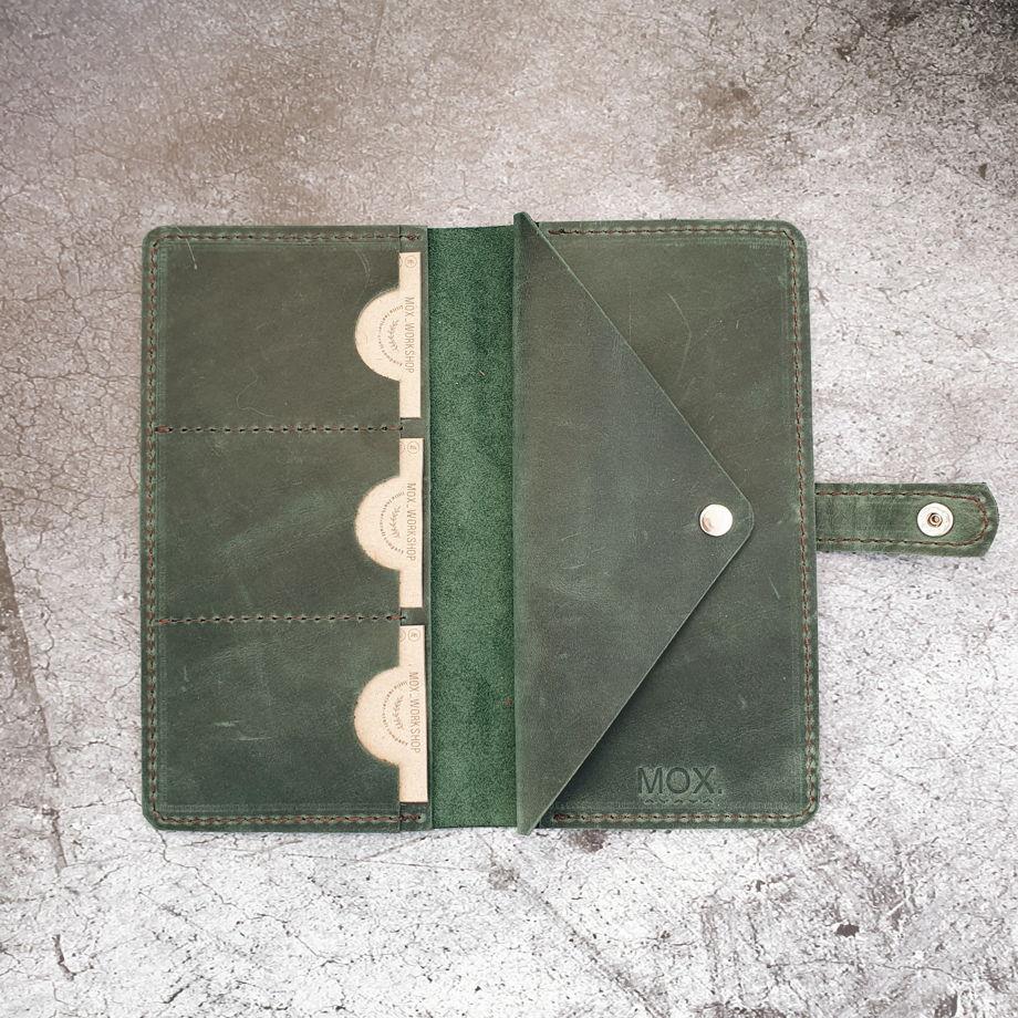 Бумажник из кожи Shark зеленый