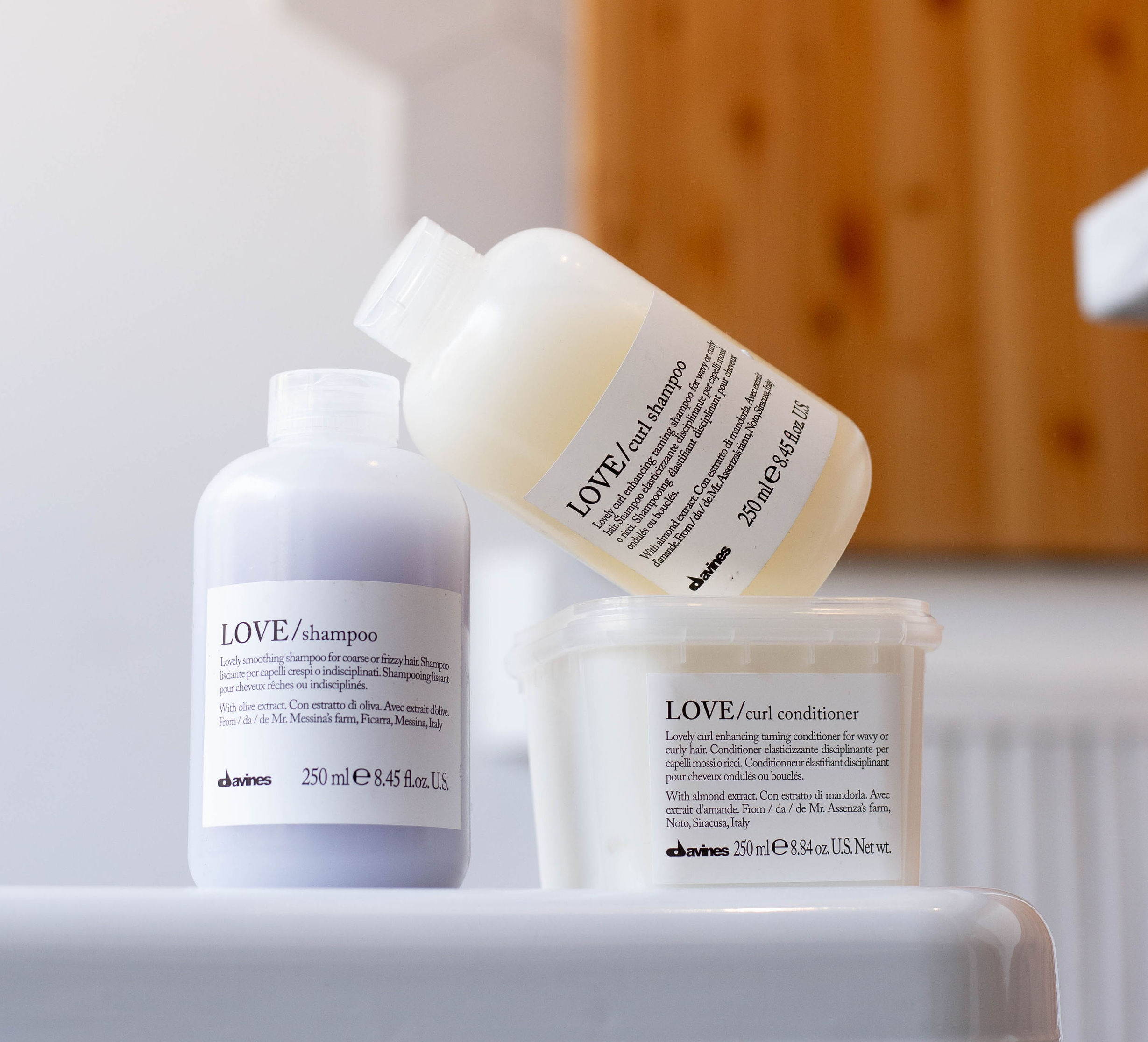 Davines LOVE Curl and Smoothing Essential Haircare