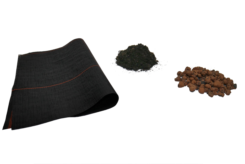 Blähton - Wurzelsperrvlies - Substrat (Erde)