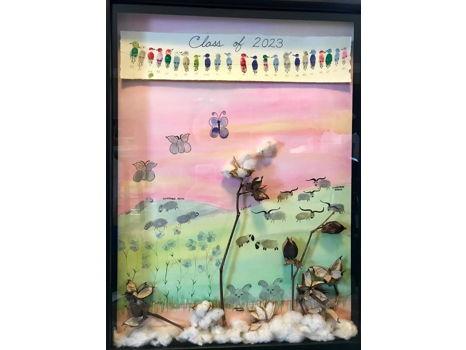 Ms.  Johnson's Class Fingerprint Fiber Masterpiece