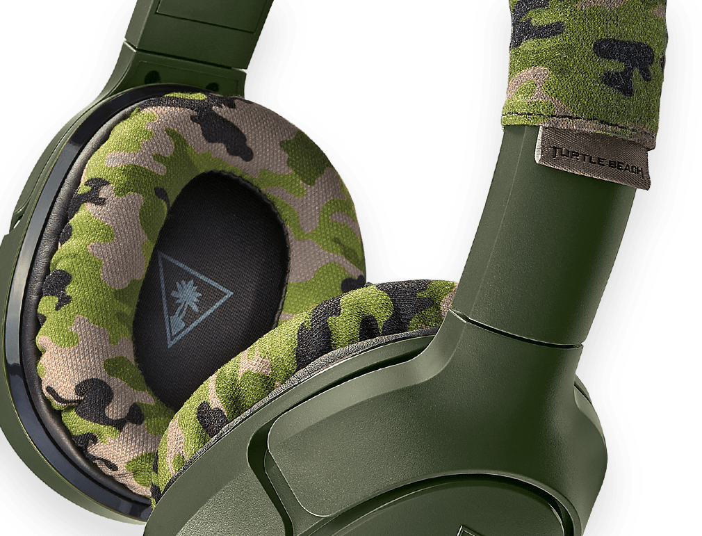 recon camo gaming headset rugged comfortable design
