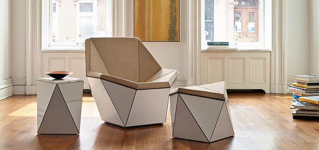 Knoll Prism Lounge Chair, Table and Ottoman