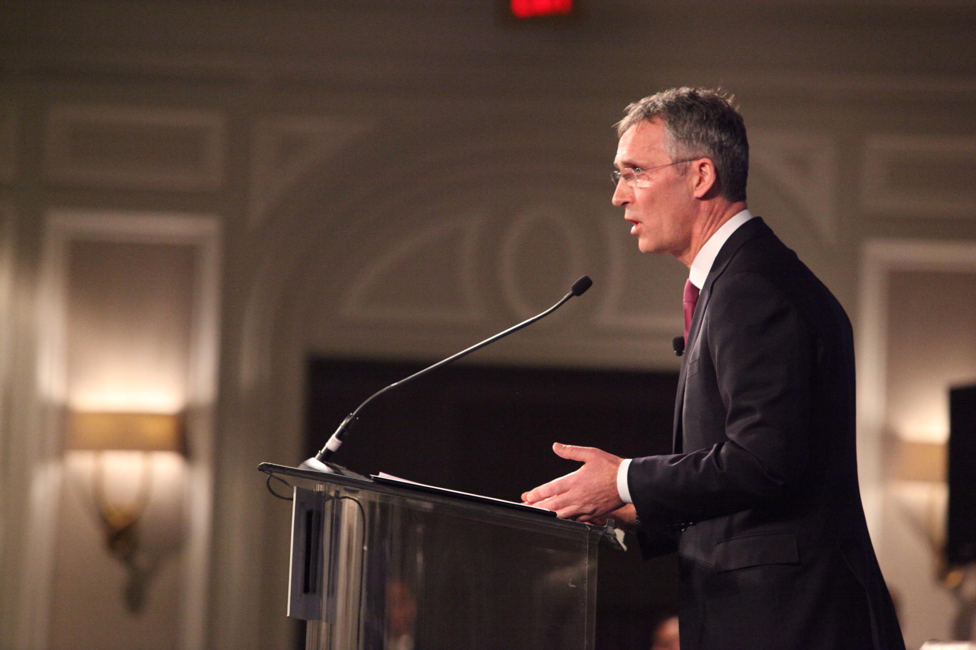 NATO Secretary General Stoltenberg Stands Up for the Alliance