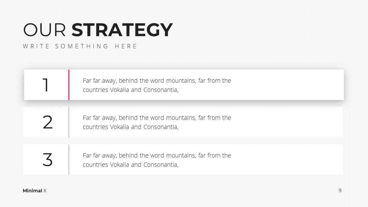 Minimal X Social Media Report Presentation Template Strategies