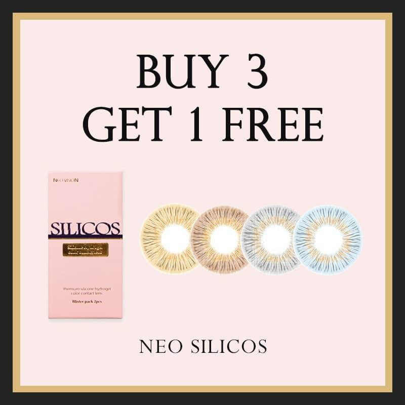 NEO Silicos Silicone Hydrogel Colored Contact Lenses Promotion - Buy 3 Get 1 Free