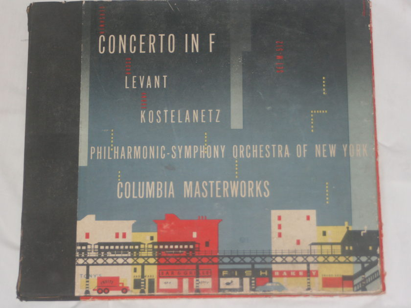 Philharmonic Symphony Orchestra of New York - Concerto in F Levant Kostelanetz Columbia M-MM-512