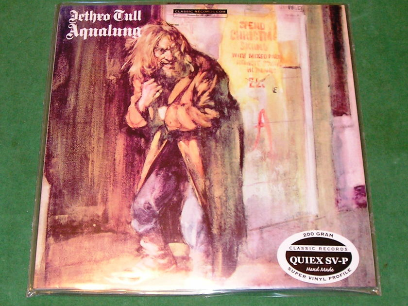 JETHRO TULL *AQUALUNG* - CLASSIC RECORDS 200 GRAM PRESS *SEALED* !!! LONG OUT OF PRINT !!!