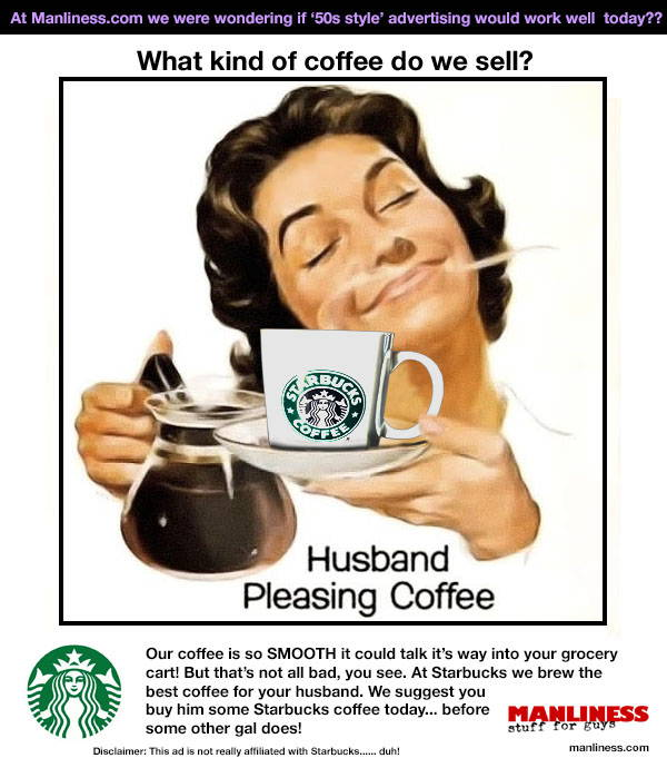 Would '1950s style' advertising work today? Starbucks