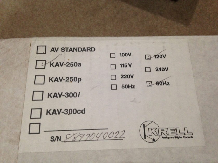 Krell KAV 250a Excellent Condition