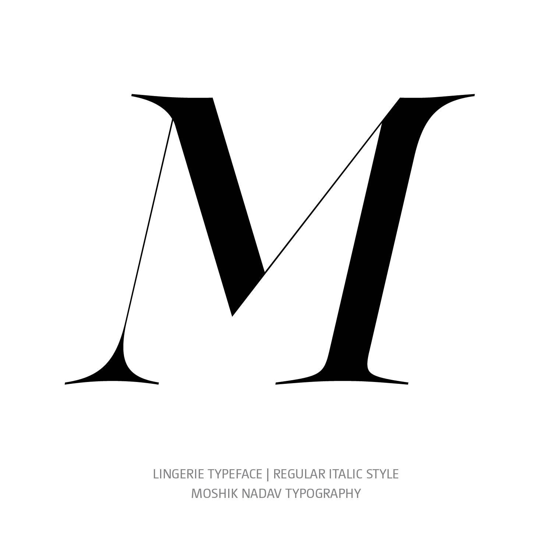 Lingerie Typeface Regular Italic M- Fashion fonts by Moshik Nadav Typography