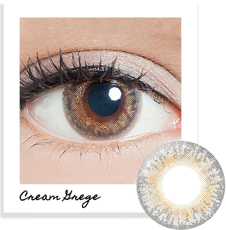 LILMOON Cream Grege contact lenses