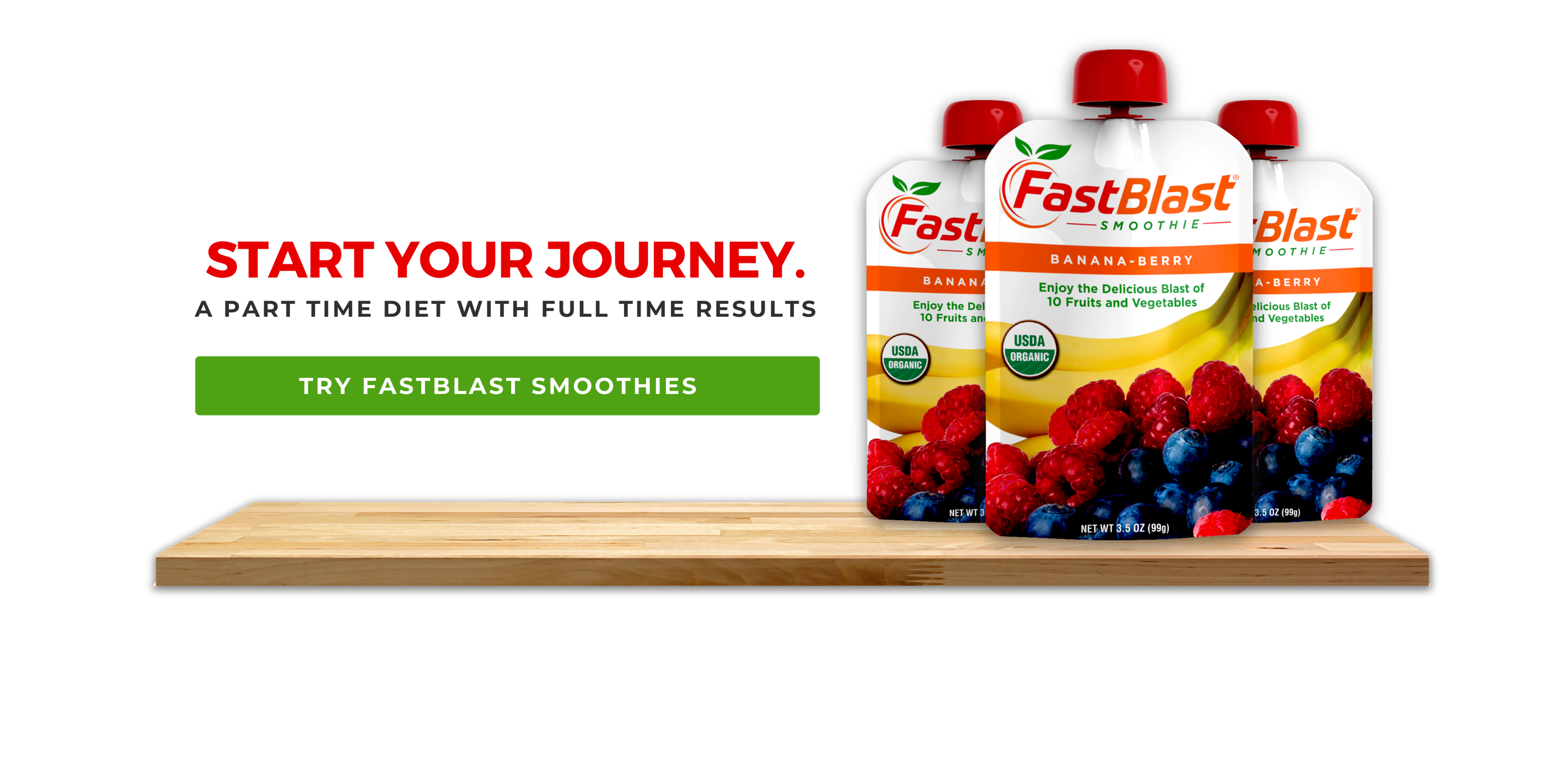 Fastblast smoothies lined up