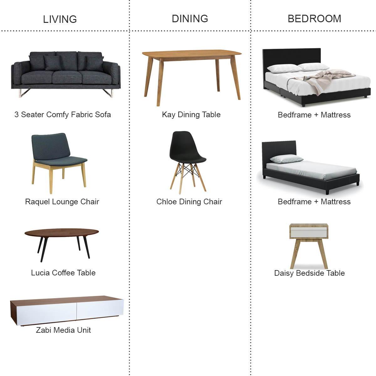 Furniture rental package