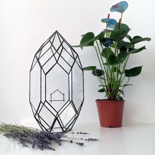 """Пустой флорариум в форме красивого кристалла """"Kristal Ederra"""""""