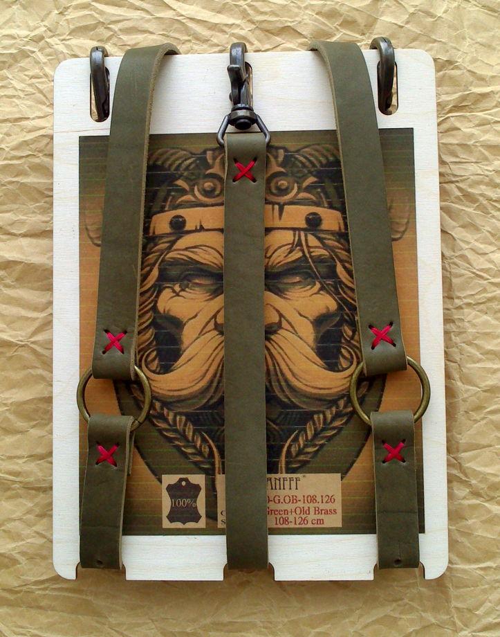Кожаные подтяжки  Viking