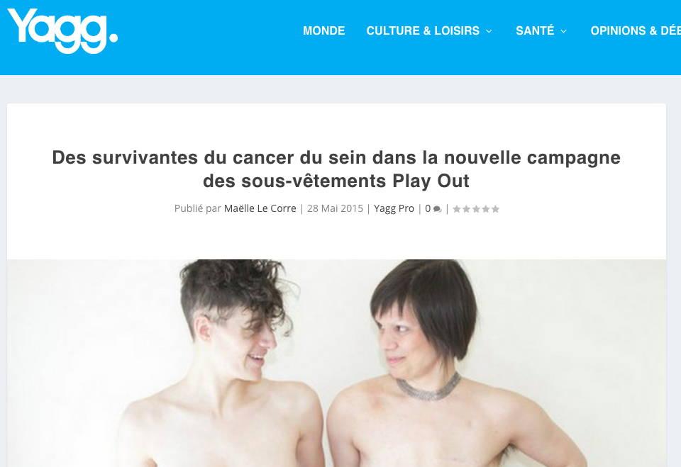 Yagg - Des survivantes du cancer du sein dans la nouvelle campagne des sous-vêtements Play Out (in French)