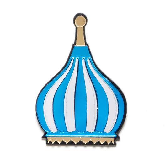 "Брошь ""Голубой купол"""
