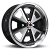klassik rader 914 black machined wheel