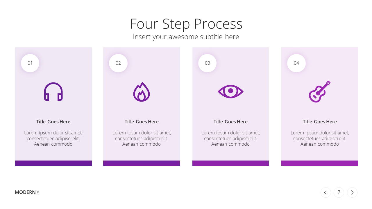 Modern X Digital Marketing Proposal Presentation Template Process