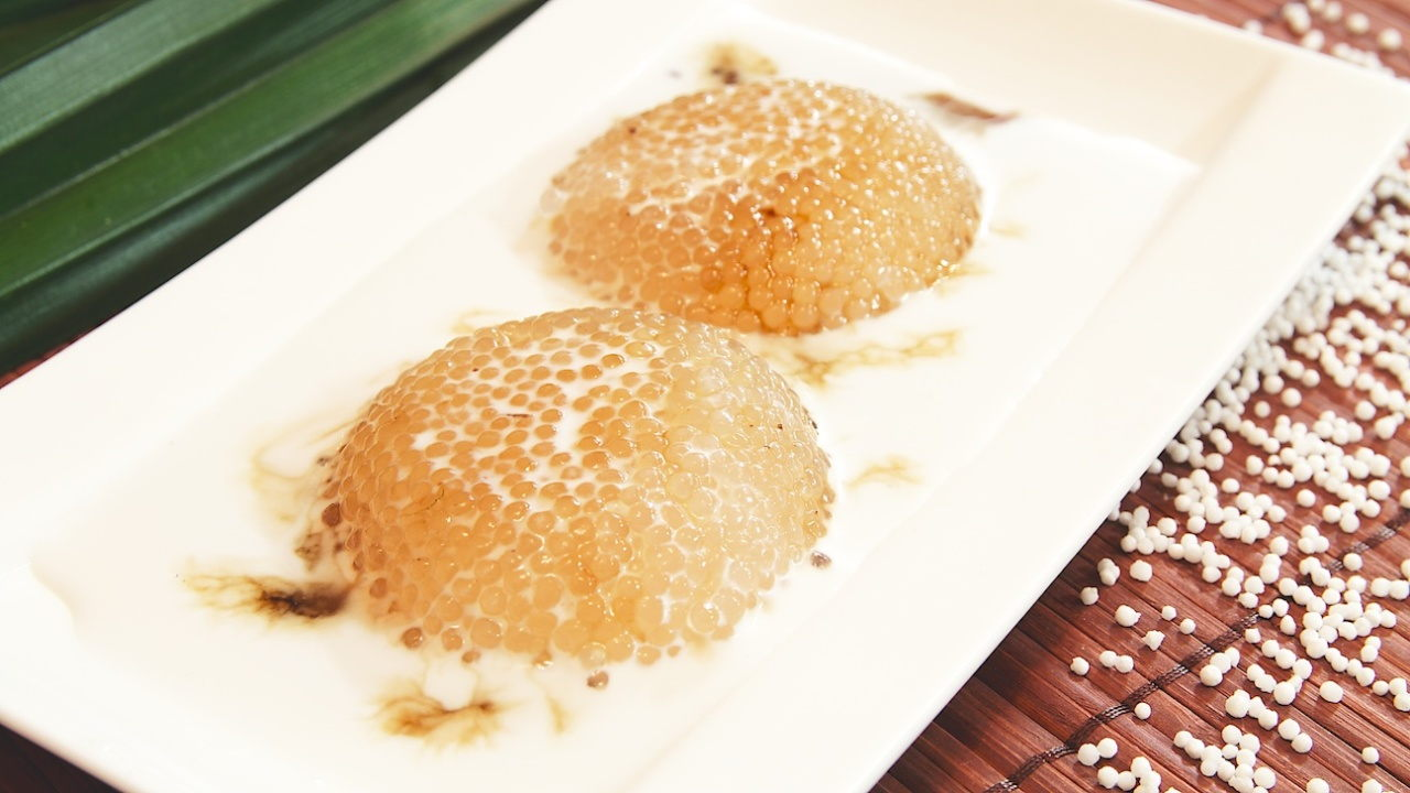 Sago Pudding with Palm Sugar