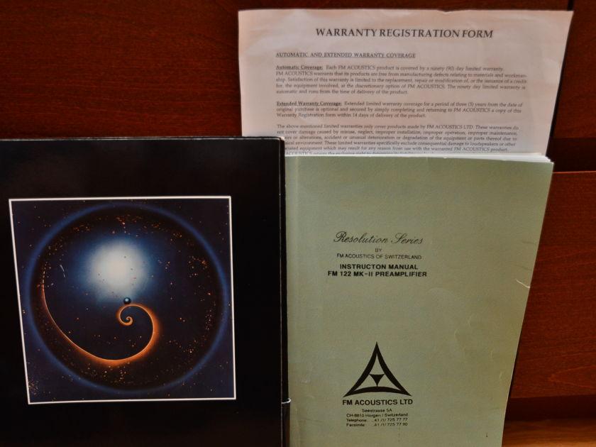FM Acoustics Resolution 122 MK-II Phonograph Preamp *Rare*