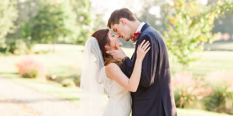 Nothing but happy tears and giggles for these newlyweds