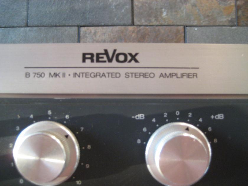 Revox B750 MkII stereo integrated amp, 2x90 watts,manual,box,pwr cord,great shape