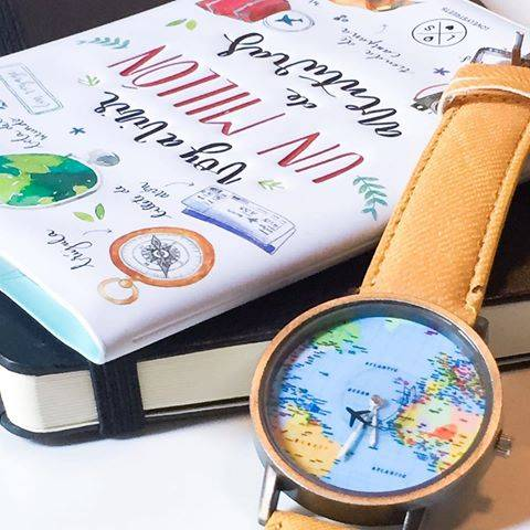 Amazing world map travel watch with 7 stylish color choices this watch features a large face with a world map background with a plane every gumiabroncs Choice Image