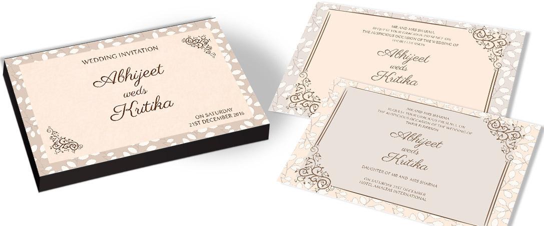 Designer Marriage Invitation