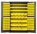Heavy Duty Storage Cabinet with Plastic Bins