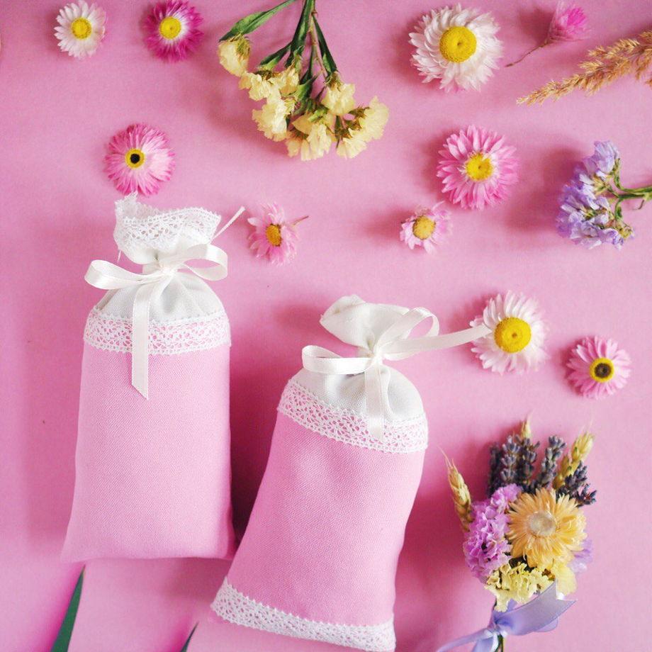 Лавандовое саше розовое