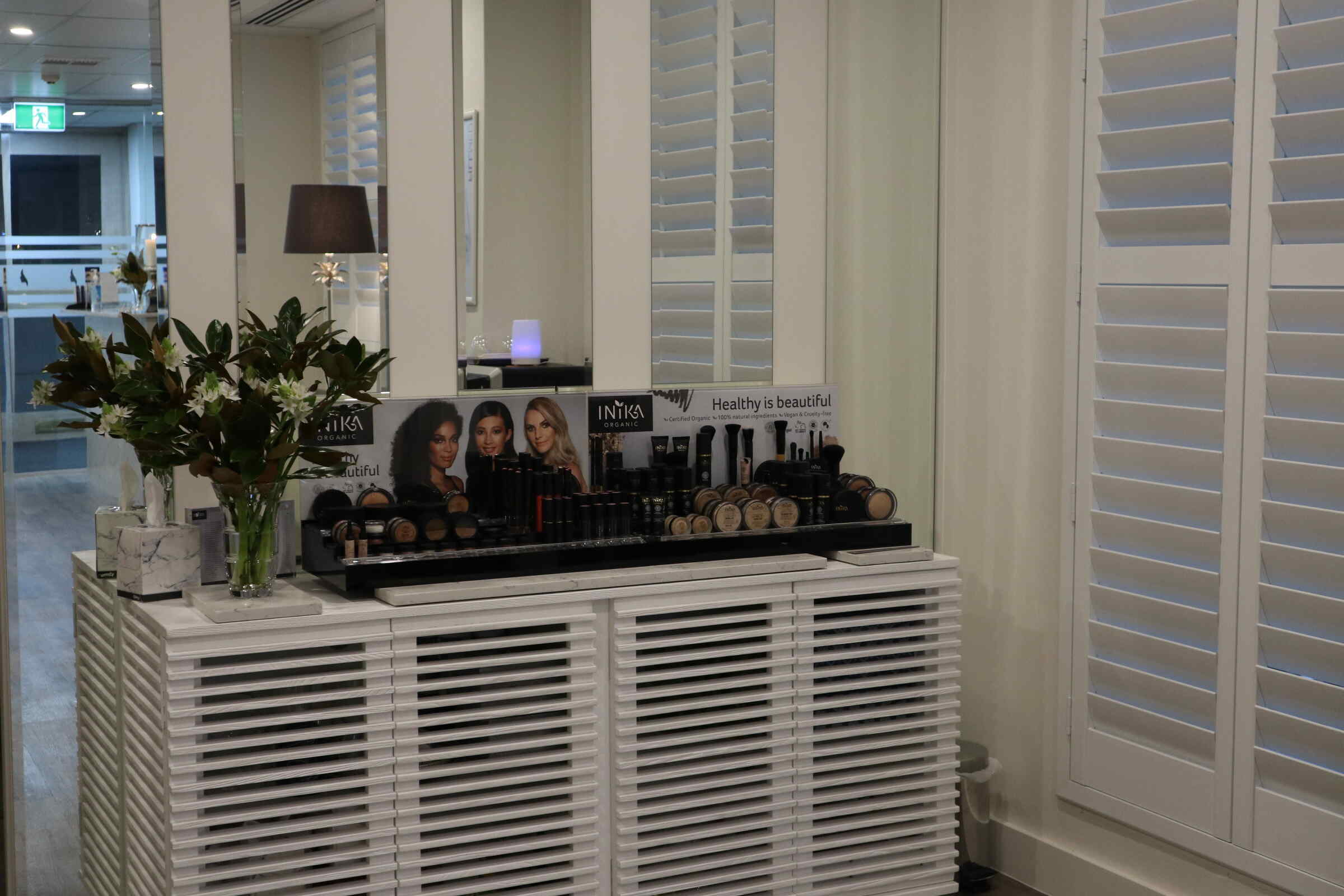 Product display area at  our Australian Skin Clinic