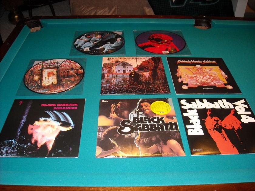 Black Sabbath - Several 8 lp's mint, nm, or new