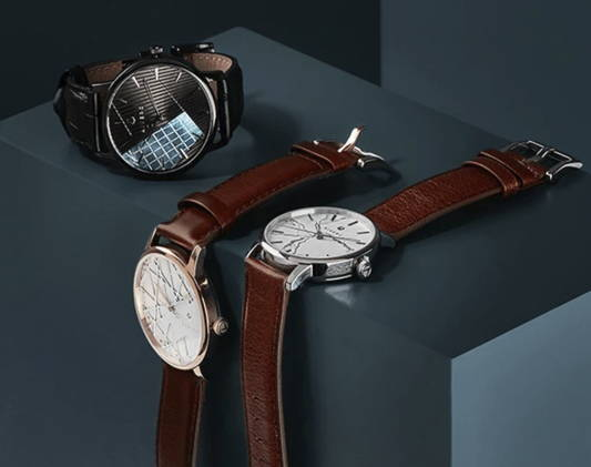 designer watches on display