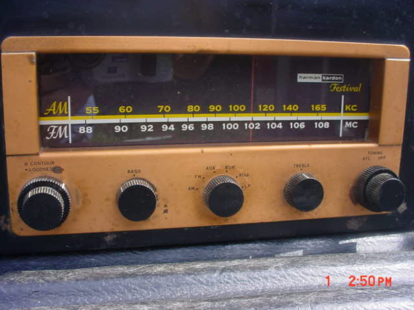 Harman Kardon FESTIVAL D1000 Tube Amp Receiver From late 50's