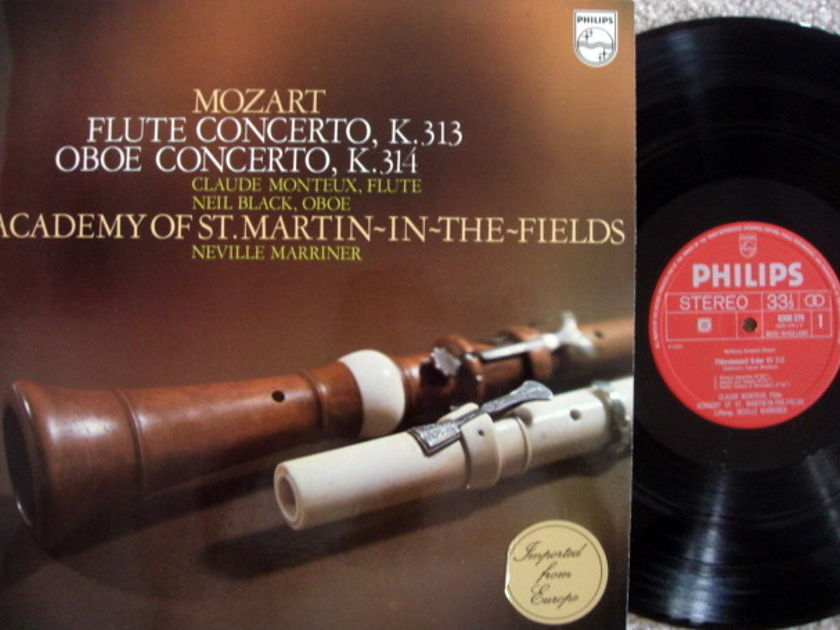 Philips / MARRINER, - Mozart Flute & Oboe Concertos, MINT!