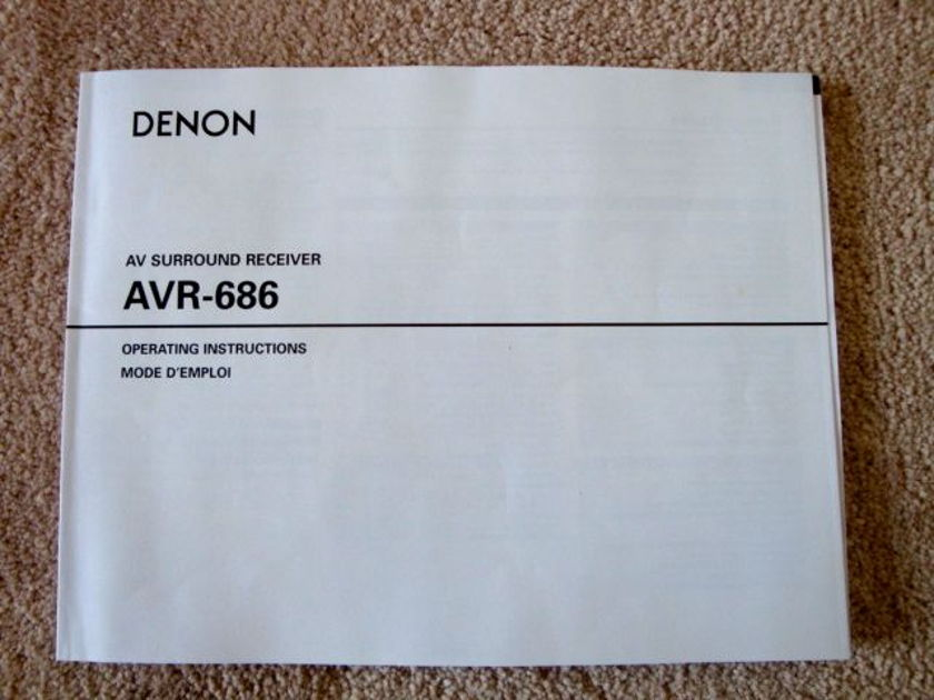 Denon  AVR-686 AV Surround Receiver