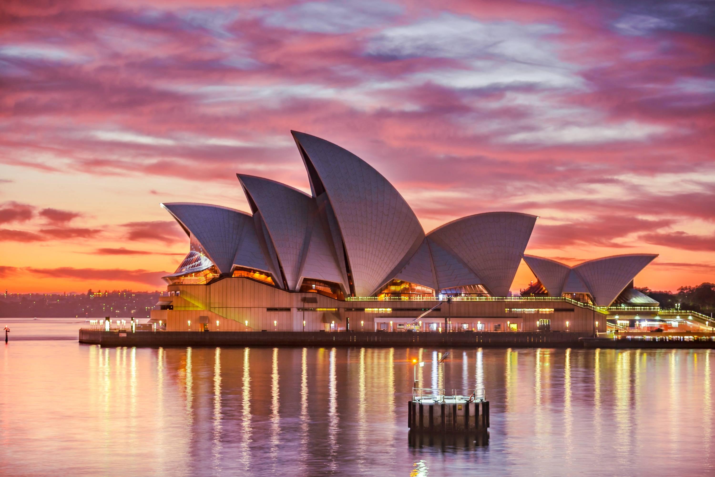 Sunset photo of Sydney Opera House