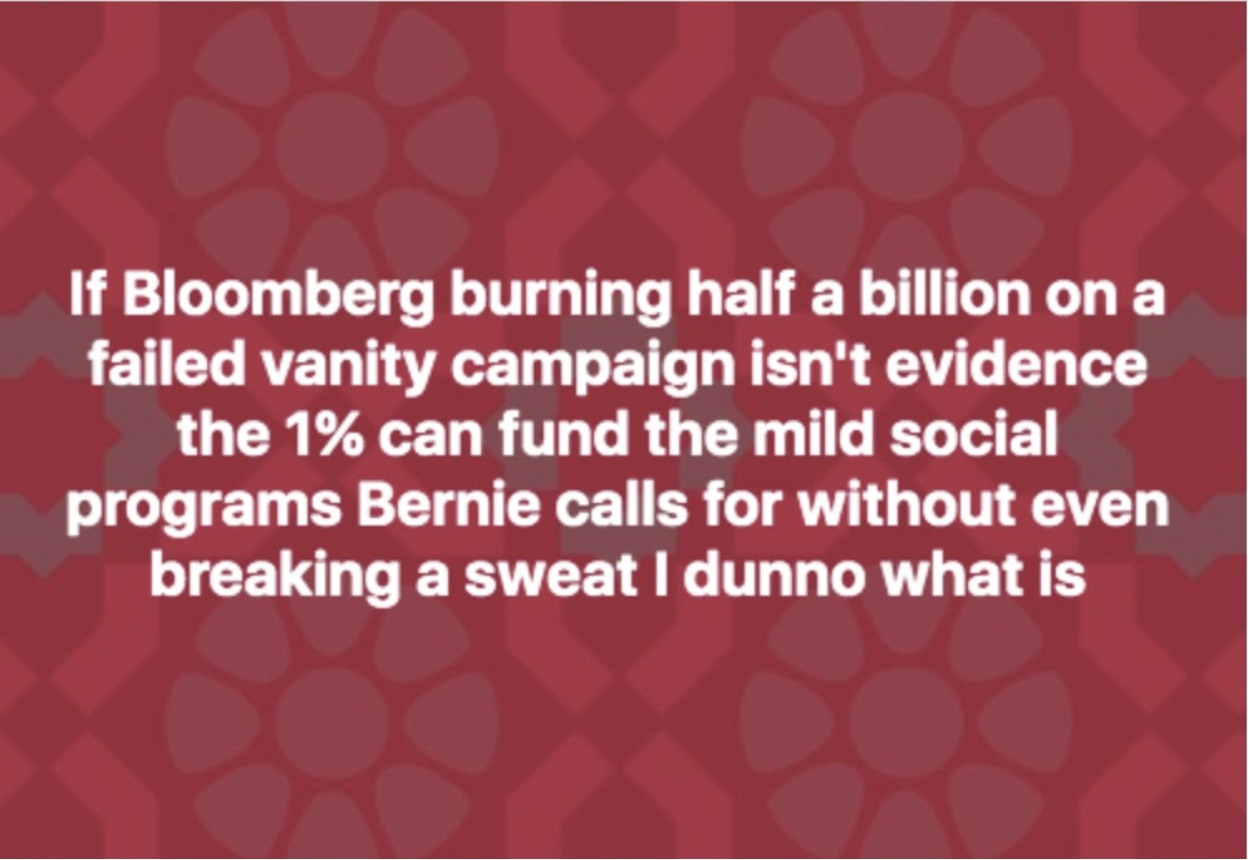 Bloomberg and socialism