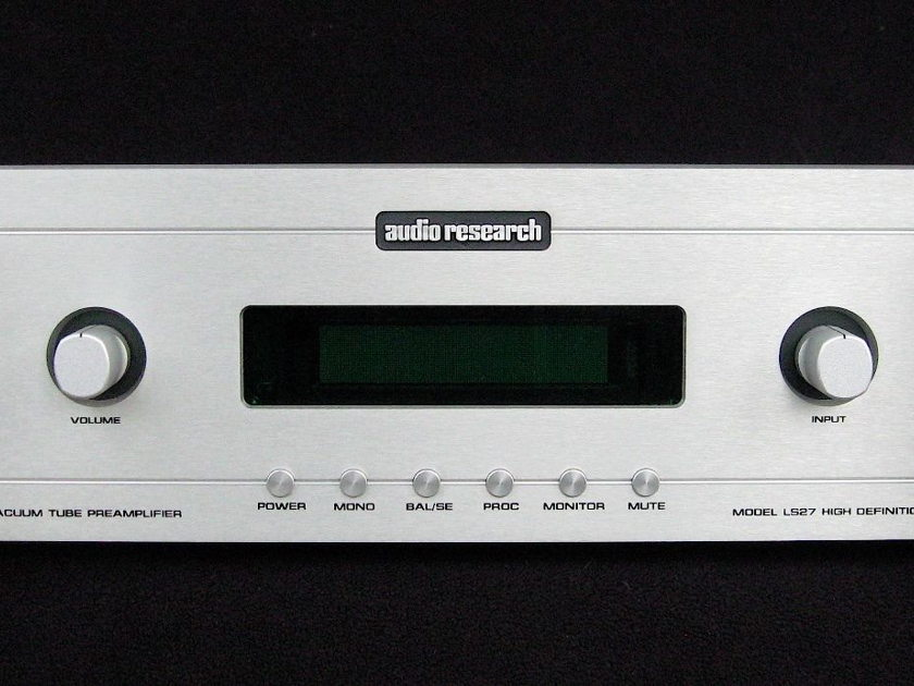 Audio Research  LS-27 Silver Face, 1 owner, tube preamp excellent condition