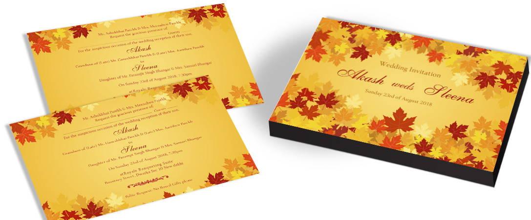 Unique Autumn Wedding Invitations