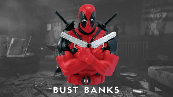 Deadpool Movie and Comic Bust Banks and Piggy Banks from Monogram, free shipping across India